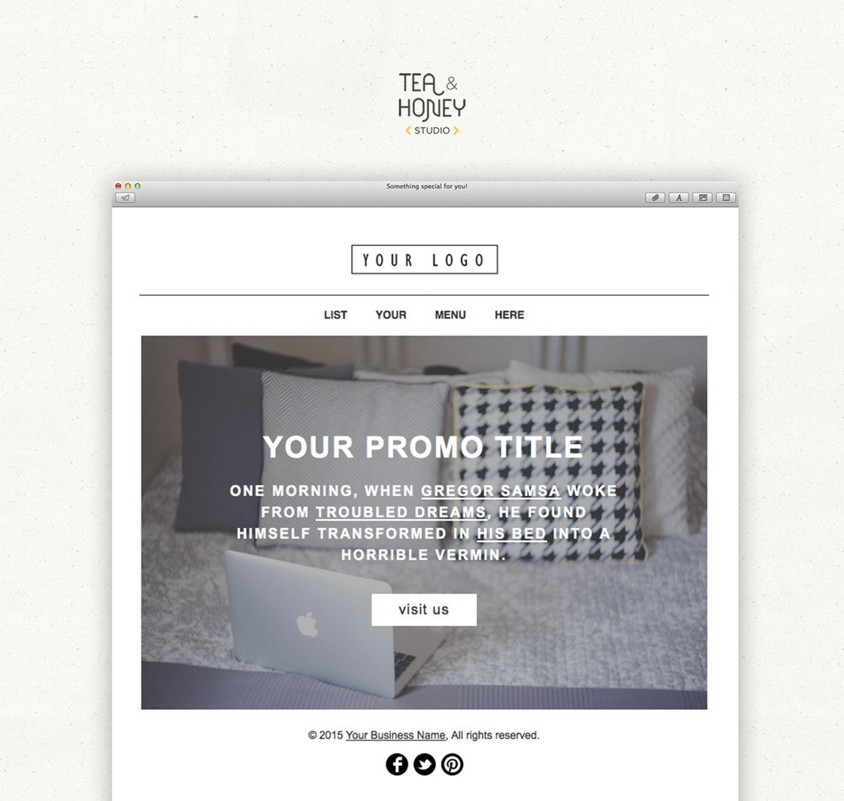 Promotional Email Newsletter Modern Handcoded Mailchimp HTML