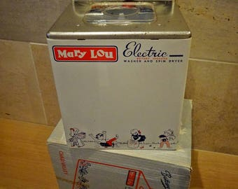 Vintage Toy Washer. Chad Valley Toy, 'Mary Lou Washing Machine', Toy Washing Machine, Vintage Childs Toy, Collectors of Toys, Toy Museum