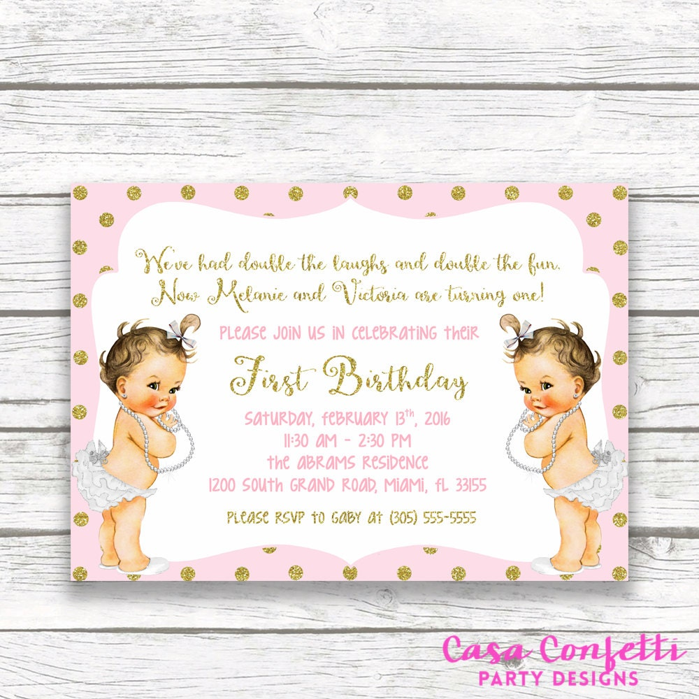 Twin Girl Birthday Invitations &QD11 – Advancedmassagebysara