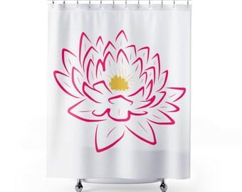 Shower Flower Curtains