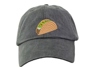 Taco Baseball Hat Cap. Funny Taco Baseball Hat. I love Tacos. Taco Beach Hat. Taco Gifts. Funny Beach Hat. HER-LP101