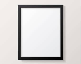 Craig Frames 17x23 Inch Black Picture Frame Single White