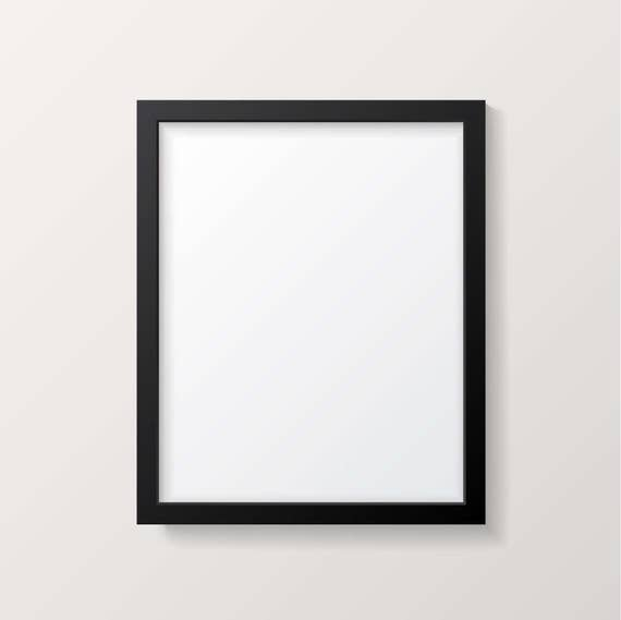 Frame Mockup - Black Picture Frame - Poster Mock up - Vertical ...