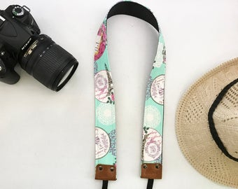 NuovoDesign Eiffel camera neck strap with leather ends for DSLR & mirrorless camera