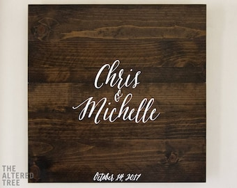 Rustic Wedding Guest Book Alternative Wedding Guest Book Sign Unique Wedding Guestbook Personalized Wooden Guest Signing Board Guest Sign In