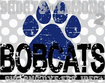 Bobcats svg, bobcats cricut, bobcat Cut File, Cats svg, iron on, Paw svg, Silhouette, Printable iron on, Digital. Cricut, Distressed, svg