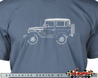 Toyota BJ40 FJ40 Land Cruiser T-Shirt for Men - Lights of Art - Multiple colors available, Size: S - 3XL, Great Japanese Classic Car Gift
