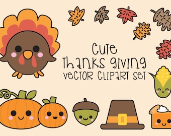 thanksgiving clipart etsy rh etsy com cute thanksgiving clipart free cute thanksgiving clipart black and white