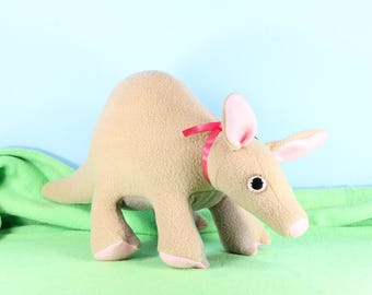 Aardvark Plush Toy, Aardvark Plushie, Aardvark Stuffed Toy, Handmade Aardvark Ant Eater, African Animal Kids Room Decor, African Wildlife