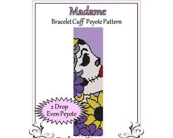 Bead Pattern Peyote(Bracelet Cuff)-Madame