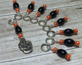 Skull Stitch Marker Set- SNAG FREE Gift for Knitters- Knitting Tools