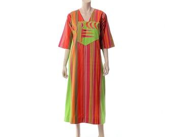 Vintage Josefa Mexican Embroidered Maxi Dress 60s 1960s 70s 1970s Hippie Boho Designer Hippy Woodstock Gypsy Festival Caftan / L