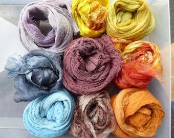 Nono fabrics? Mix of cotton scrim and  hand dyed Margilan silk gauze  - Nuno Fab 05