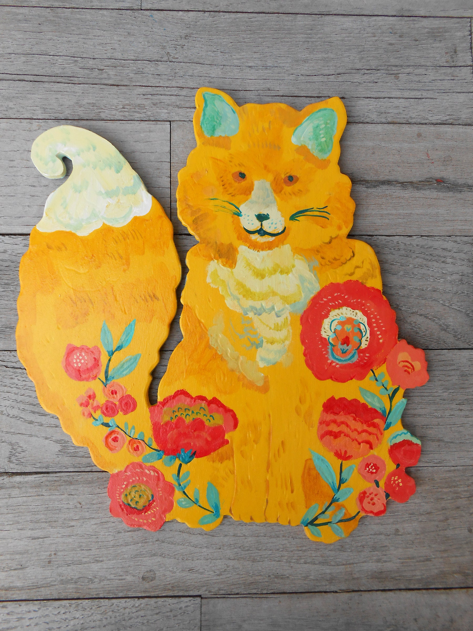 Wood Fox Sign By Kimberly Hodges Baby Print Painting Lover Gifts Nursery Gift For Her Decor