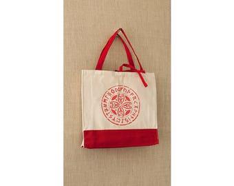 Sturdy Canvas Bag, Tote Bag, Celtic Circle, Yoga Bag, Reusable Bag, Eco Friendly Bag, Book Bag