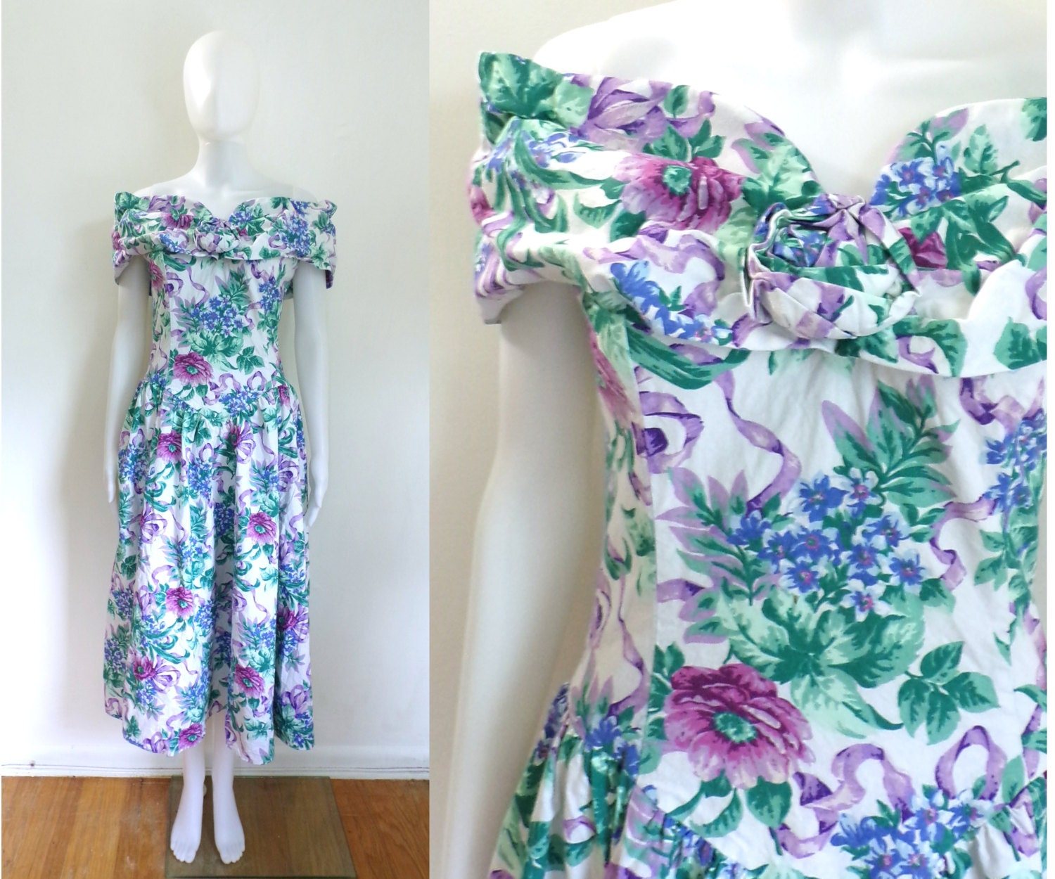 Contemporary Floral Garden Party Dress Gallery - All Wedding Dresses ...