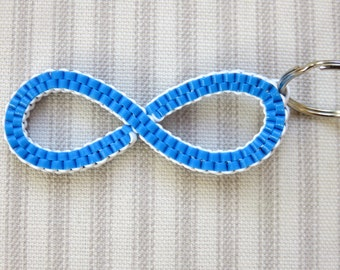 Custom Infinity Keychain - Plastic Lace - Rexlace - Boondoggle
