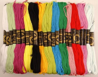 100 skeins of 8 meters polyester thread to embroider