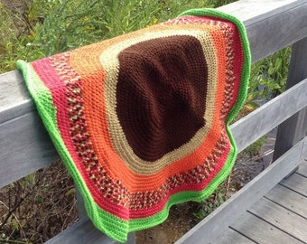Crocheted blanket, homemade blanket, lap blanket, crocheted small blanket, small afghan, throw blanket, lap throw, crocheted circle blanket