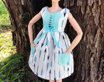 Custom Pullip Dress,Made To Move Dress,Pullip Clothing,Pullip Summer Dress,MTM Clothes,MTM Doll Outfit,Pullip Dress Spring,OOAK Fashion Doll