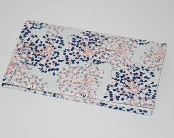 Checkbook holder in fabric - pattern * Japanese Foliage * - multicolored tones - gift idea / 00472