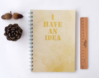 trendy handmade notebook , A5 Spiral Notebook, Teen Girl Gift, Stationery, Sketchbook, Personalized Journal, Diary, School Notebook, Memo