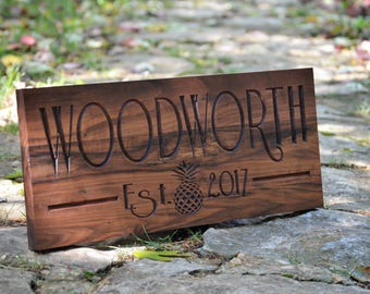 Last Name Sign Family Name Sign Custom Wood Signs Personalized Wood Sign Outdoor Sign Name Signs Established Sign Last Name Wooden Signs