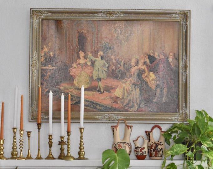 large framed victorian ballroom dancing print | paredes