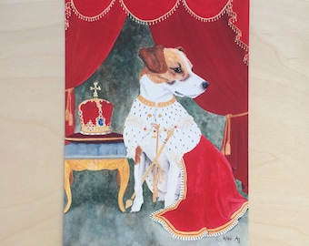 Regal Beagle - Unframed 5.5x7.5 Limited Edition Giclee Print