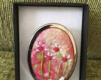 OOAK felted flower brooch