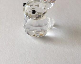 Swarovski Crystal Figurine Rabbit Animal Vintage