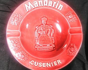 Cusenier mandarin ashtray / vintage ashtray / advertising ashtray