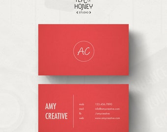 Minimalistic black and white business card template premade simple business card unique calling card template premade landscape bc customizable business card wajeb Gallery