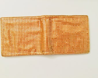 Vintage Evans Wallet Gold Lame Wallet Evans Gold Billfold Ultra Glamorous Wallet Bling Gift for Her