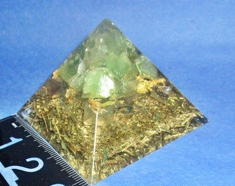 """2 1/2"""" high x 3"""" wide, Orgone Pyramid on STEROIDS, fused with TRUE ALCHEMY!  Works on you specifically!"""
