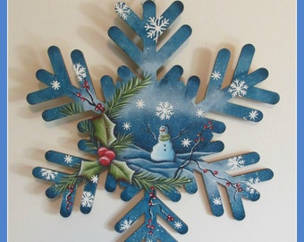10 inch snowflake cutout wall decoration