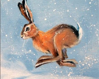Winter Hare - Limited Edition Glicee  Print