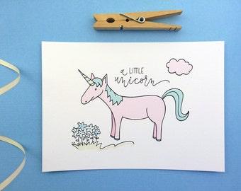 Unicorn Illustration Art Print