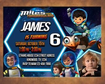 Miles from Tomorrowland Invitation, Miles from Tomorrowland Birthday Party