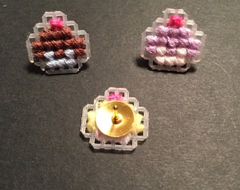 Mini Cupcake Push Pins (10)