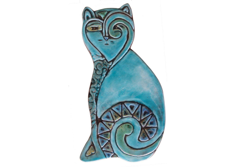 Ceramic cat ceramic tile cat art decorative tiles zoom dailygadgetfo Gallery