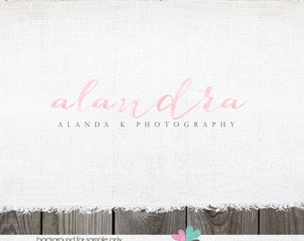watercolor logo Premade logo designs real estate logos photographer logos Premade Logos for Photographer