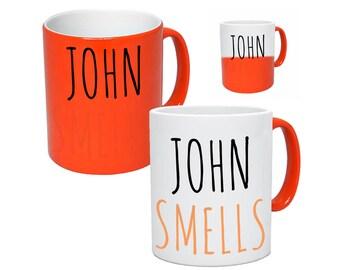Funny Personalised Mug. Heat Changing Mug. Rude Mug. Mugs With Name. Rude Tea & Coffee Mug. Secret Santa Christmas Gift For Him Her