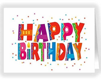 Happy Birthday and Confetti Card Pack - Single Birthday Greeting Card - 11185-1