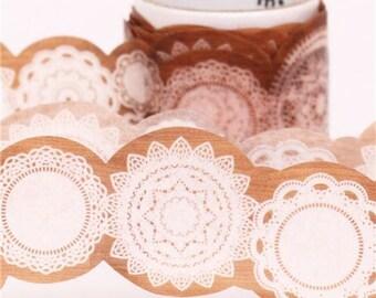 187787 die-cut lace mt fab Washi Masking Tape deco tape