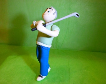 Golf Golfing Golfer Edible sugar paste cake topper decoration birthday party