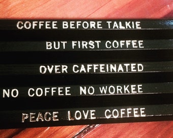 Coffee Lover Pencil Set