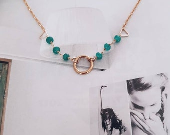 Circle of Life Emerald Necklace