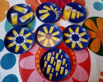 7x Maes Beer Coasters
