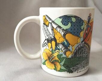 Florida Coffee Mug  // Florida Home Decor // Retro Kitchen // Retro Kitchen Decor // Ceramic Coffee Mug // Vintage Coffee Mug (D7)